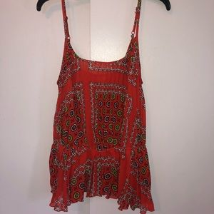 Miss Tina by Tina Knowles orange patterned tank